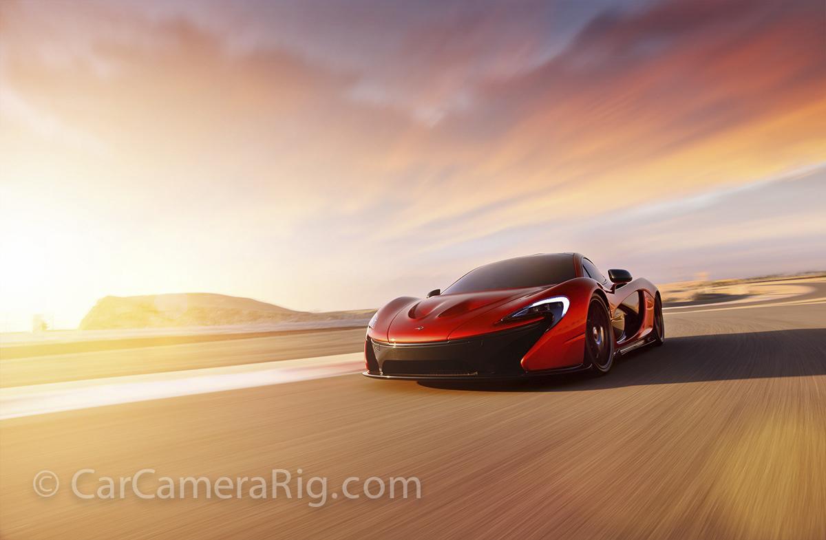 car camera rig shot
